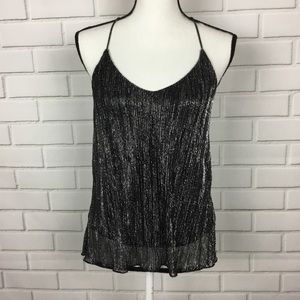 Topshop Tops - Topshop T-back sparkly tank top